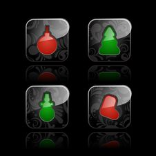 Free Christmas Icons &x28;set 1&x29; Stock Photography - 26842072