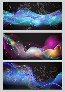 Free Abstract Vector Backgrounds Set Stock Photos - 26842073