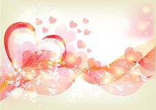 Free Beautiful Soft Valentine Greeting Card Royalty Free Stock Photography - 26842197