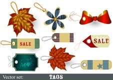 Free Collection Of Decorative  Vector Tags Stock Image - 26842841