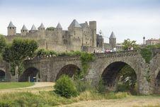 Free Bridge At Carcassonne Royalty Free Stock Images - 26843029