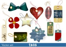 Collection Of Vector Tags For Design Royalty Free Stock Photography