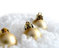 Free Christmas Decorations In The Snow Royalty Free Stock Photos - 26844188