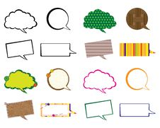 Free Set Of Speech Bubbles Stock Images - 26845214