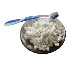 Free Curds With A Toothbrush Royalty Free Stock Image - 26845476