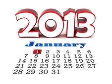 New Year Royalty Free Stock Photography