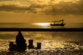 Free Silhouette Fisherman Royalty Free Stock Photo - 26851565