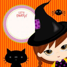 Let S Party Witch Stock Photo