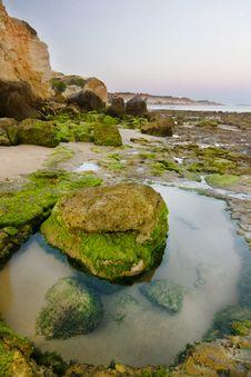 Olhos D Agua, Algarve Stock Image