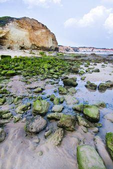 Olhos D Agua, Algarve Royalty Free Stock Photography