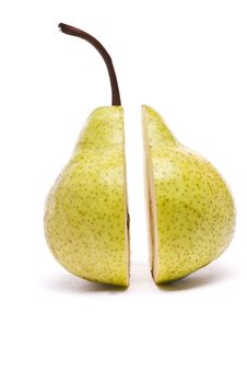 Green Pear On White Stock Photography