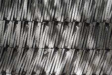 Several Piles Of Roof Tiles Royalty Free Stock Photo