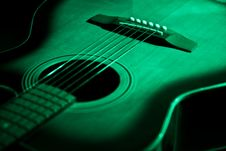 Free Green Guitar Royalty Free Stock Photos - 26855178