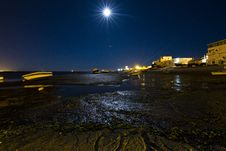 Free Moonlight Beach Royalty Free Stock Photo - 26855205