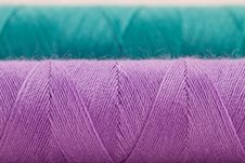 Free Violet And Green Thread Stock Photo - 26859140