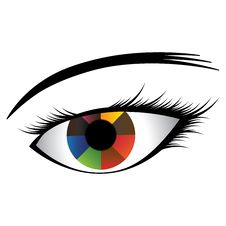 Illustration Of Girl S Eye With Colorful Iris Royalty Free Stock Images