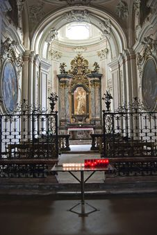 Baroque Altar With Candles Stock Photos