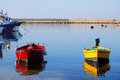 Free Small Boats Moored In The Harbor Royalty Free Stock Images - 26866339