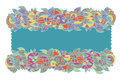 Free Floral Ethnic Frame Hand-drawn Stock Photography - 26867012