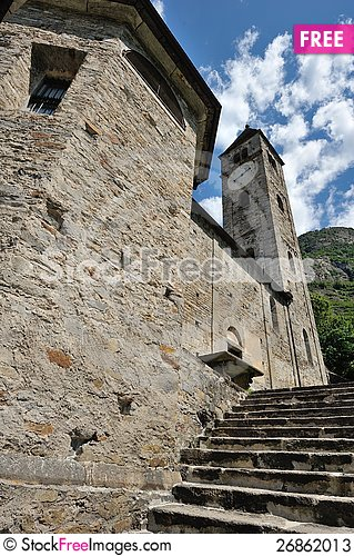 Free Old Church In Biasca Stock Photos - 26862013