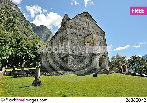 Free Old Church In Biasca Stock Photography - 26862042