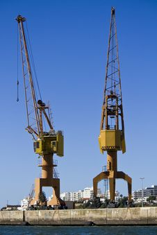 Free Port Crane Royalty Free Stock Images - 26860399
