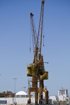 Free Port Crane Royalty Free Stock Photography - 26861787