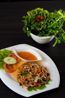 Free Vietnamese Spicy Banana Blossom Salad Stock Images - 26861944