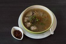 Vietnamese Rice Noodle Spicy Soup Royalty Free Stock Photography