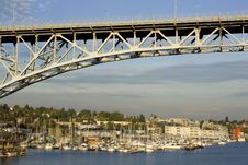 Free Bridge Over Lake Union Royalty Free Stock Image - 26862916