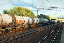 Free Tanks With Fuel  By Rail Stock Photos - 26863213