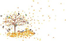 Free On The Carpet Of Fallen Leaves Royalty Free Stock Images - 26865179