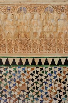 Free View Of A Mosaic In The Alhambra Stock Images - 26866404