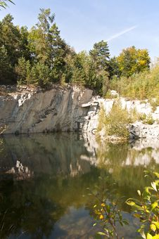 Flooded Quarry Royalty Free Stock Images