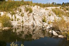 Flooded Quarry Stock Photo