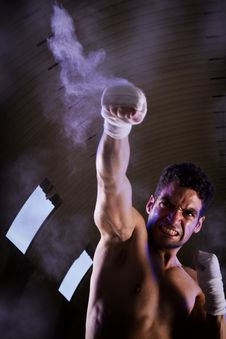 Fit Fighter Royalty Free Stock Photo