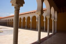 Classical Mediterranean Spanish Style Building Royalty Free Stock Photos