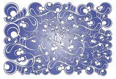 Stylized Frosty Pattern Stock Images