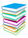 Free Stack Of Colorful Books On White Background. Royalty Free Stock Photo - 26872665
