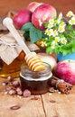 Free Full Honey Pot And Honey Stick Stock Photos - 26874513