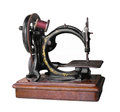 Free Antique Hand Cranked Sewing Machine Isolated. Royalty Free Stock Image - 26876136