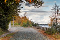 Free Old Cobblestone Road At Early Autumn Stock Image - 26877011