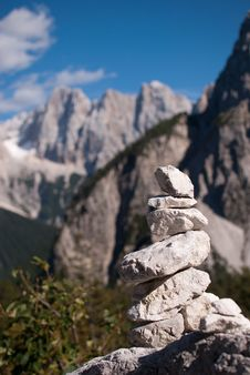 Free Stack Stone With Mountains Background Royalty Free Stock Photo - 26871335