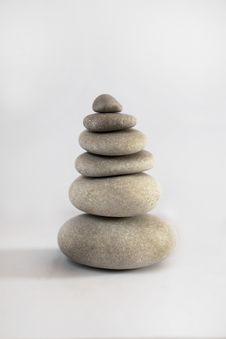 Zen Stone Tower Stock Photography