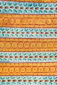 Free Traditional Thai Style Pattern Royalty Free Stock Images - 26872959