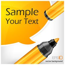 Free Speech Bubbles & Marker With Text Stock Photo - 26875970