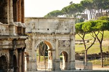Free Arch Of Constantine In Rome Royalty Free Stock Photo - 26876015