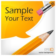 Free Speech Bubbles & Pencil With Text Royalty Free Stock Images - 26876149