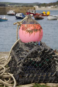 Free Crab And Lobster Pots On The Quayside Stock Photo - 26876240