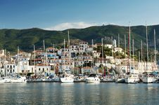 Free View Of The Old Village And Yachts From The Sea Stock Photography - 26876492